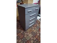 Gray chest of drawers £80