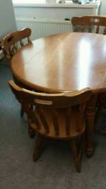 Malaysian Oak Table and Chairs