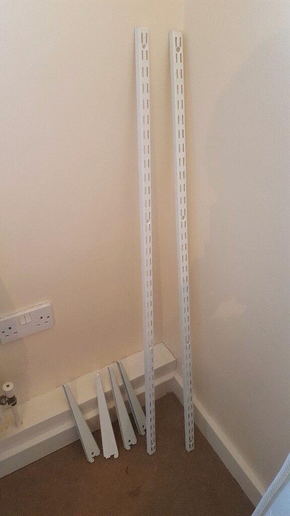 White shelf brackets
