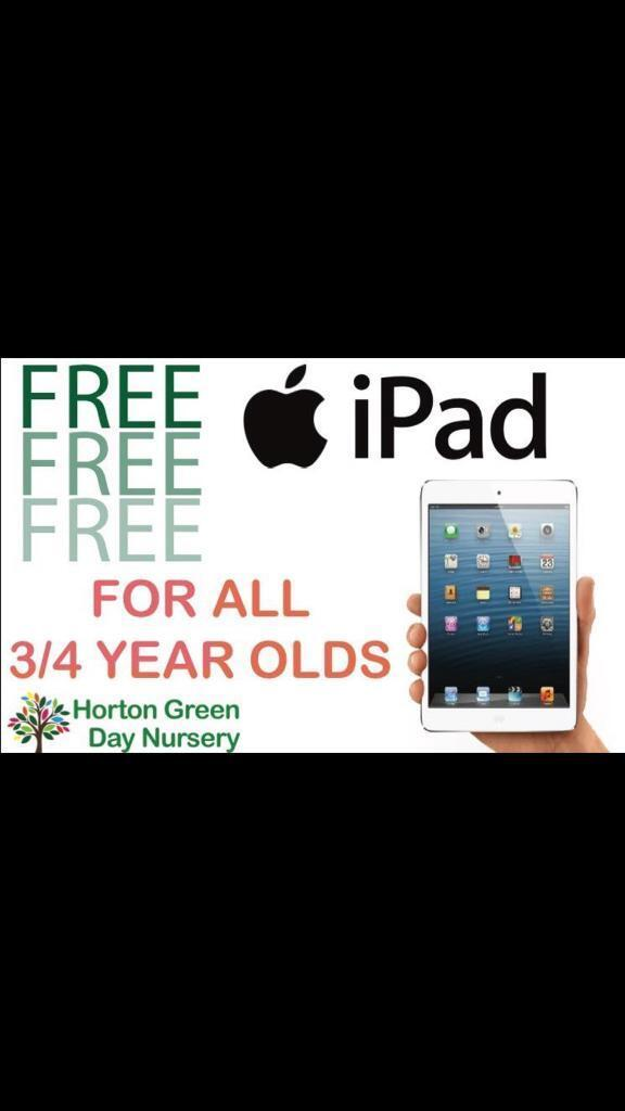 Free ipads ****** with every childcare place booked