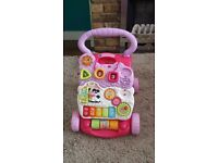 VTech First Steps Baby Walker. Pink. Very good condition