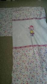 Toddler Duvet, Pillow Case and Matching Curtains