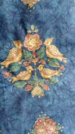 2 sets of beautiful curtains fully lined. Blue, bird design