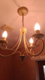 Antique style 3 rose Ceiling light
