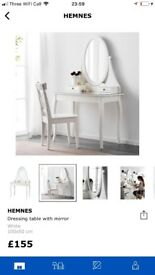 New Ikea Hemnes dressing table with mirror