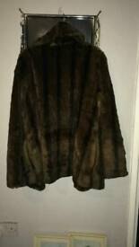Brown fur coat brand new never worn