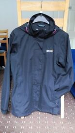 Ladies Regatta outdoor jacket, waterproof, size 10, black, used but in a great condition