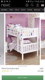 Next white wooden bunk beds