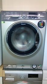 HOTPOINT silver WASHING MACHINE new ex display