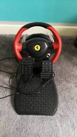 Thrustmaster ferrari 458 Spider steering wheel and pedals (Xbox one=