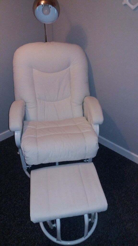 White Leatherette Nursing Chair