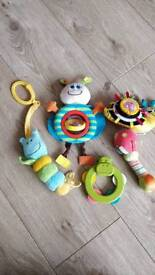 5 asdorted childrens rattles