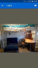 High sleeper bunk bed chair desk