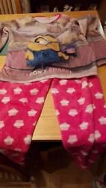 Girls pyjamas size 10 _11