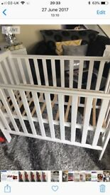 Compact cot with mattress amazing condition