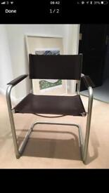 Stylish leather cantilever chair