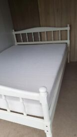 creamy Double Bed frame - free delivery
