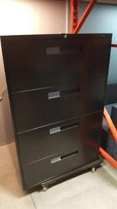 Global 4 Drawer Black Lateral Filing Cabinets