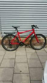 "Red As New Condition Carrera Axle Ltd Mountain Bike, 27.5"" Wheels, 21 Speed, 20"" Frame"