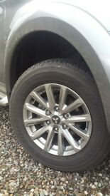 Mitsubishi L200 alloy wheels with tyres