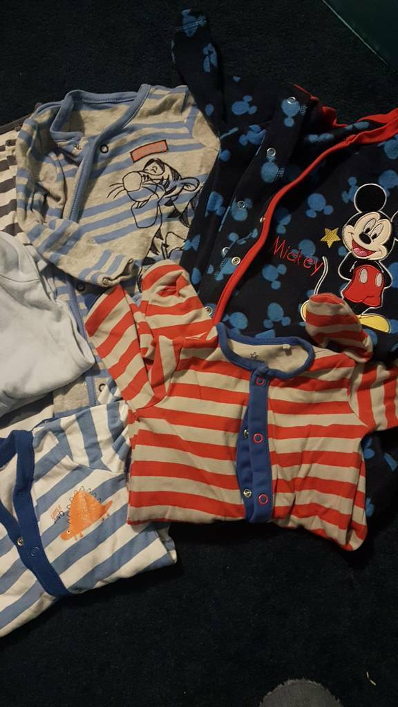6 sleepsuits including from next GEORGE and Tesco 0-3 months