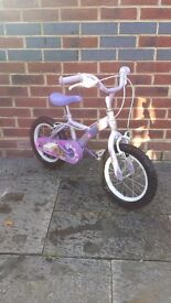 Girls bike. Suited for ages 3 to 5 yrs approx . Well used but plenty of use left.