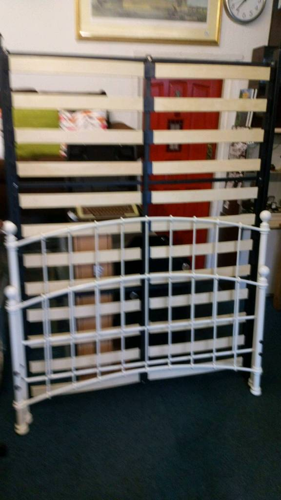 Double bed frame iron ends