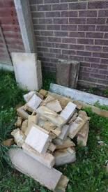 Free rubble hardcore slabs bricks