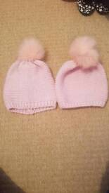 Childrens Wooly Hats Pink