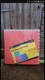 Pack of 4 Multi Coloured Foam Playmats - 6 packs for sell