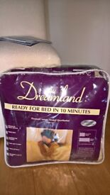 luxury heated overblanket by Dreamland (new and unused)