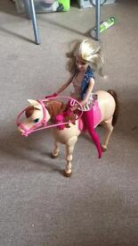 Barbie saddle and ride