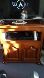French cherry tree tv unit. Solid wood. Sliding top. Collection only