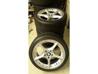 Genuine BMW Alloys,18 inch, good tyres.