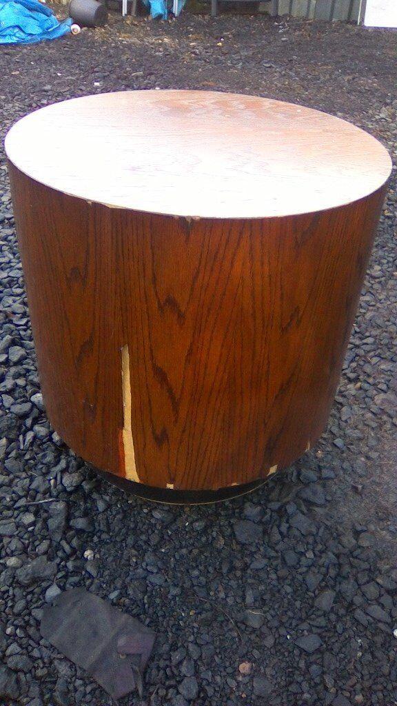 Unusual large drum table /retail display