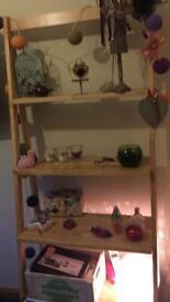 Oak effect shelf unit