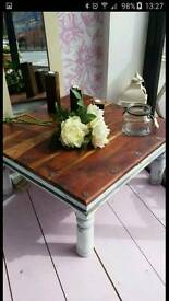 Coffee table rustic shabby chic