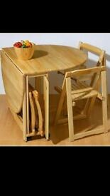 Space Saving Butterfly Table & 4 Chairs