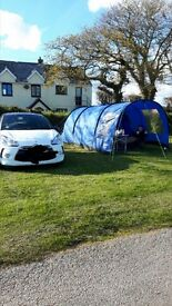 Hi gear rock 4 tent with canopy and carpet
