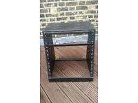"11U 19"" Studio Rack Cabinet - Angled Front - Black Wood"