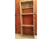 Rustic hand made bookcase / shelving unit