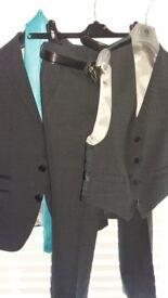 Boys suit 1880 club dark grey worn once