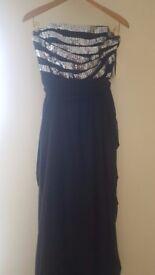 Ariella Designer Black Dress - Size 40EU (UK12)
