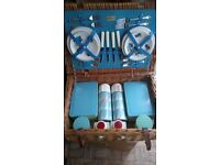 Picnic Basket. Large Brexton set 1950's all original