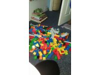 large bundle of duplo. Includes some Thomas the tank. from a smoke and pet free house.