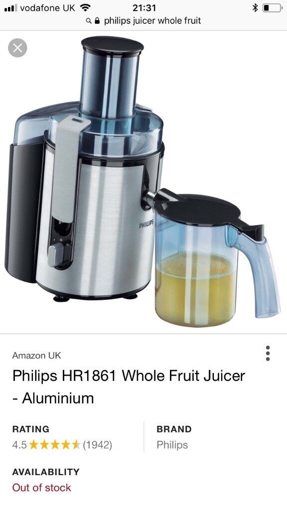 Philips Juicer Whole Fruits In Loughton Essex Gumtree