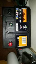 Halfords battery new 60amps