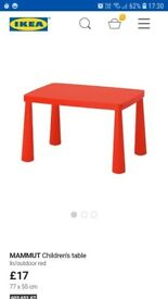 Kids red table