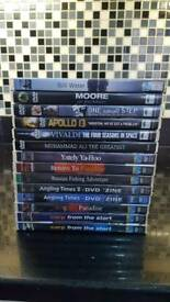 14 dvds mix of fishing / space / MuhammadAli
