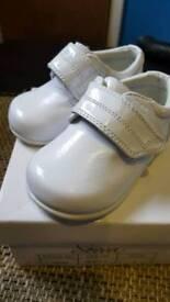 Boys girls christening baby unisex shoes
